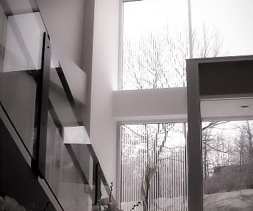 inside window shot- BW